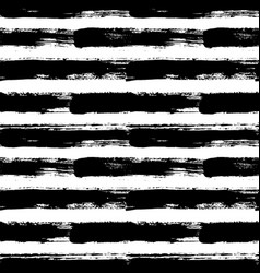 Painted striped pattern grunge brush strokes vector
