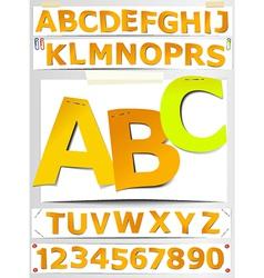 Paper letters - alphabet vector image