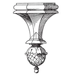 part lantern pendant knob die castings vintage vector image