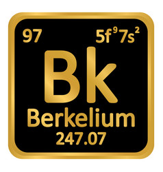 Periodic table element berkelium icon vector