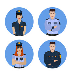 Police officer image vector