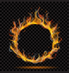 Ring of fire flame with smoke vector