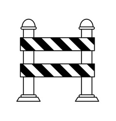 Road warning barrier under construction related vector