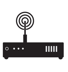 router icon on white background flat style vector image