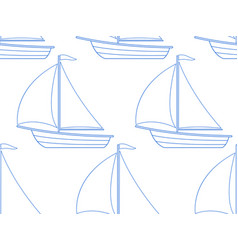 sailing boat pattern vector image