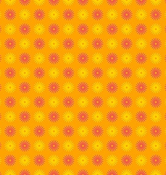 Seamless happy and colorful floral pattern vector image