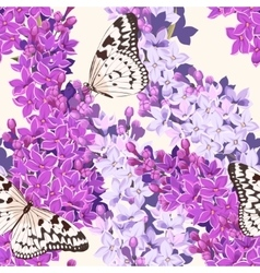 Set of cards with lilac vector image