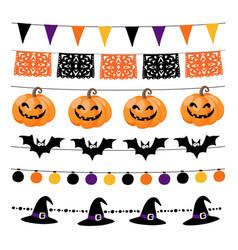 set of halloween or dia de los muertos day vector image