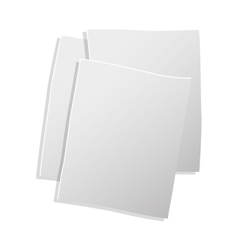 sheets of paper in 3d vector image