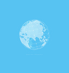 simple globe shape global connection concept vector image