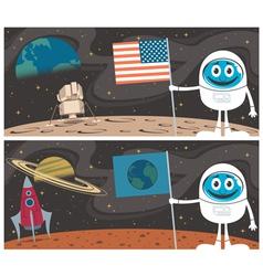 Space Scenes vector