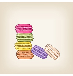 stack of colourful macaroons vector image