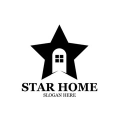 Star home logo designs modern simple vector