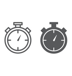 stopwatch line and glyph icon time and measure vector image