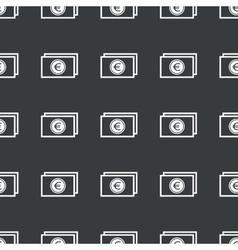 Straight black euro bill pattern vector