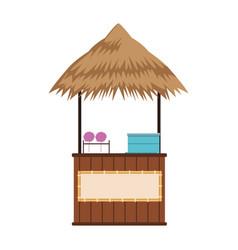 Sugar cotton kiosk vector