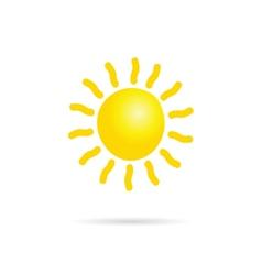 sun yellow vector image