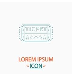 Ticket computer symbol vector image