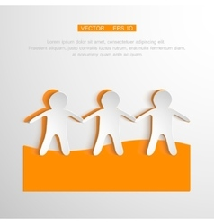 togetherness concept People vector image