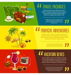 Travel horizontal banners cartoon vector image
