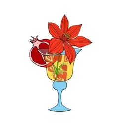 Tropical Love cocktail vector image