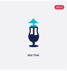 two color mai thai icon from drinks concept vector image