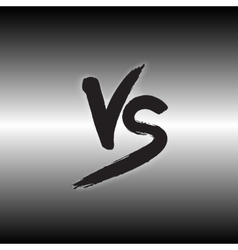Versus letters logo Black V and S flat style vector
