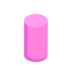 Vertical pink cylinder color vector