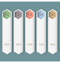 Vertical trendy Design template vector image