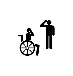 veteran handicap wheelchair icon can be used for vector image