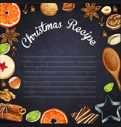 watercolor hipsterr blackboard with christmas vector image