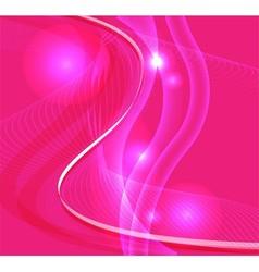 Wave line burst light pink background vector