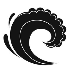 wave water surfing icon simple black style vector image