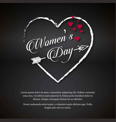womens day greetings typography with dark vector image
