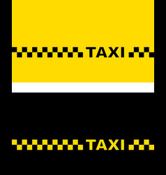 Yellow and black taxi card vector
