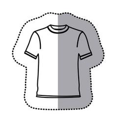 figure t-shirt cloth icon vector image