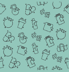 gym concept icons pattern vector image vector image
