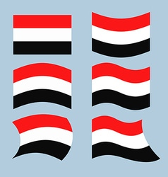 Yemen flag Set of flags of Republic of Yemen in vector image
