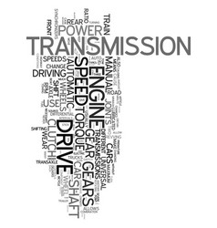 Your drive train explained text word cloud concept vector
