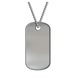 blank metal tags hanging on a chain id military vector image
