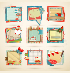 christmas notes vector image vector image