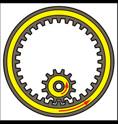 Gear wheel turns and linkages between them vector