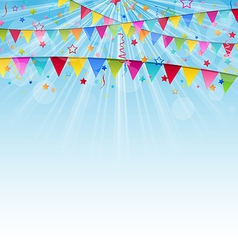 Holiday background with birthday flags and vector