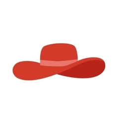 Panama red hat vector image vector image