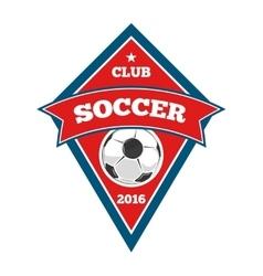 soccer logo badge emblem template in red vector image vector image