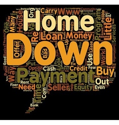 Ways to Buy a Home With Little or No Money Down vector image vector image