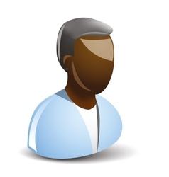 afroamercan icon vector image vector image