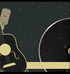blank retro music poster vector image