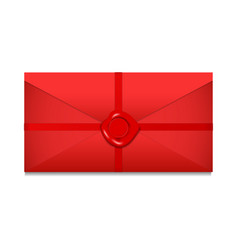 Closed envelope sealing wax st valentines day vector