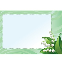 Frame with spring lilies vector image vector image